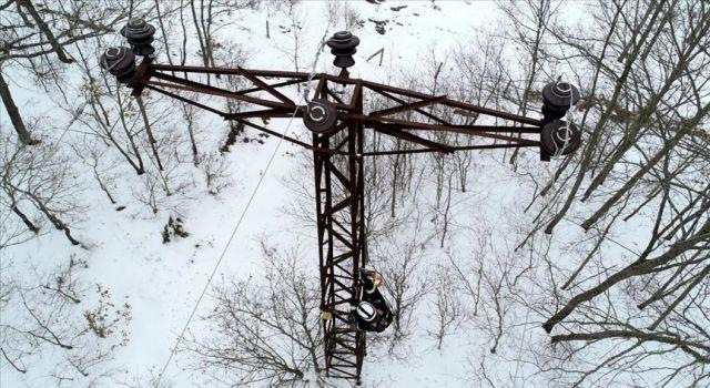 Enerji timleri karla kaplı bölgelere 'Kaplan' ile ulaşıyor