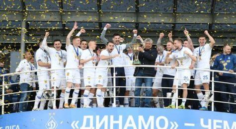 Teknik direktörlüğünü Lucescu'nun yaptığı Dinamo Kiev'de şampiyonluk sevinci yaşanıyor