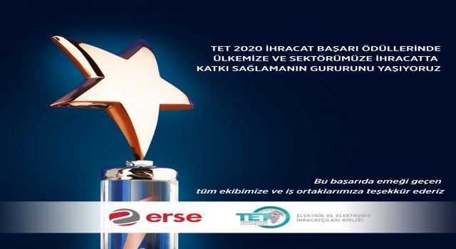 TET 2020 İhracat Başarı Ödülleri'nde, Erse Kablo Rakipleri Arasında Fark Yaratarak Yükseliyor