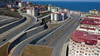 Karadeniz Sahil Yolu'nun Trabzon geçişinde trafiği rahatlatacak projenin yüzde 60'ı tamamlandı