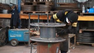Tel ve kablo sektörünün imalatta kullandığı çelik makaralar Kocaeli'den
